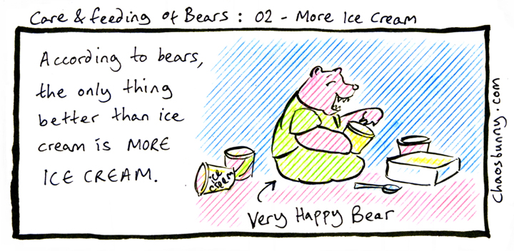 Did I mention that bears really like ice cream?