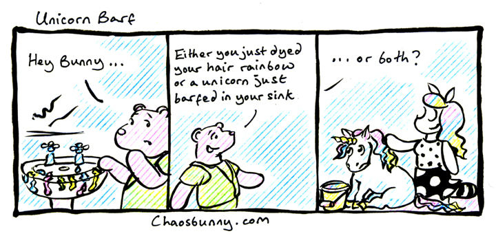 No unicorns were harmed in the making of this comic.